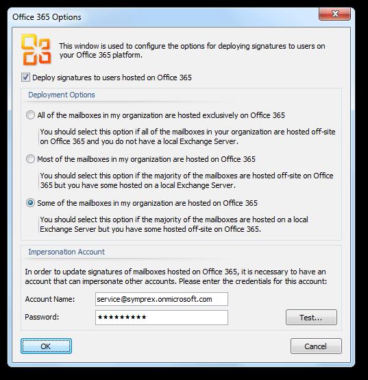 Symprex Email Signature Manager