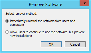 GPO - Remove Software Dialog