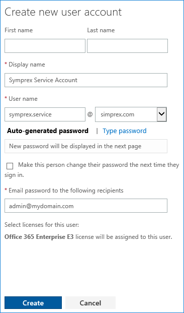 Office 365 - Create account in office 365 ...